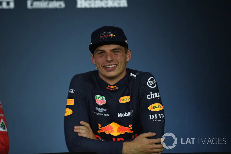 Max Verstappen, Red Bull Racing in the Press Conference