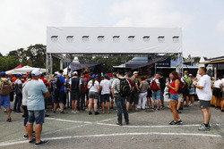 Fans in the paddock