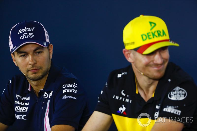 Konferensi pers: Sergio Perez, Force India, dan Nico Hulkenberg, Renault Sport F1 Team