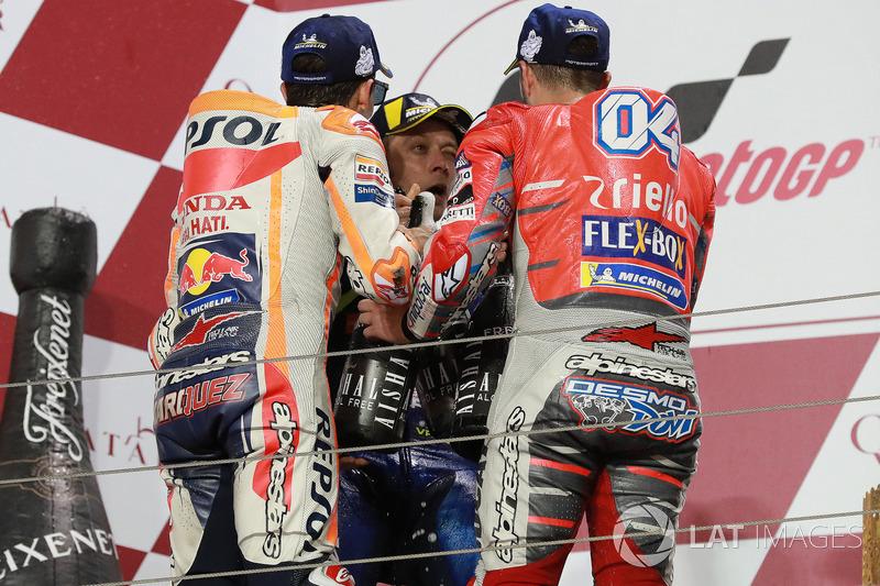 Марк Маркес, Repsol Honda Team, Андреа Довіціозо, Ducati Team, Валентино Россі, Yamaha Factory Racing