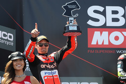 Chaz Davies, Aruba.it Racing-Ducati SBK Team podium