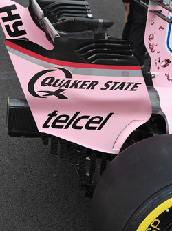 Sahara Force India VJM10 rear wing detail