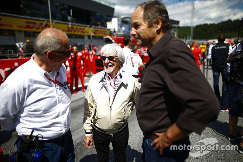 Bernie Ecclestone, ex CEO de F1 y Gerhard Berger