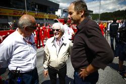 Bernie Ecclestone, Chairman Emiritus of Formula 1, and Gerhard Berger