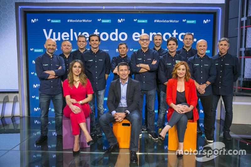Presentación del equipo de Movistar + Motor