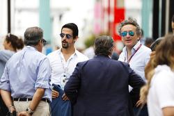 Formula E CEO Alejandro Agag with Lucas di Grassi