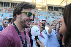 Fernando Alonso with Louise Beckett