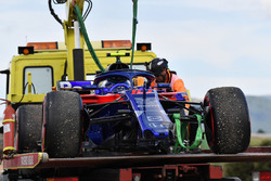 The car of Race retiree Pierre Gasly, Scuderia Toro Rosso STR13