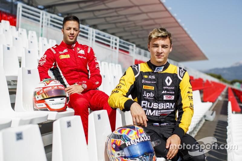 Les vainqueurs de Monaco : Antonio Fuoco et Artem Markelov