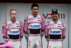 Nikita Mazepin, Sahara Force India F1, Esteban Ocon, Sahara Force India F1 and Sergio Perez, Sahara