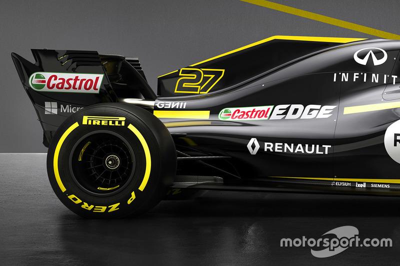 Renault F1 Team RS18 arka detay