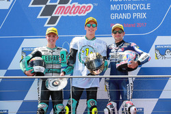 Race winner Joan Mir, Leopard Racing, second placeLivio Loi, Leopard Racing, third place Jorge Marti