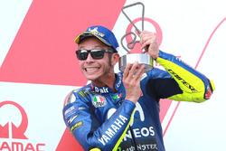 Podium: nummer twee Valentino Rossi, Yamaha Factory Racing