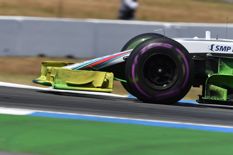 Lance Stroll, Williams FW41 con parafina