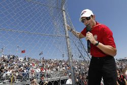 Helio Castroneves gives the command to start engines