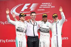 Podyum: Yarış galibi Lewis Hamilton, Mercedes AMG F1, second place Nico Rosberg, Mercedes AMG F1, Riccardo Mosconi,) Mercedes AMG F1 Data Engineer, third place Valtteri Bottas, Williams