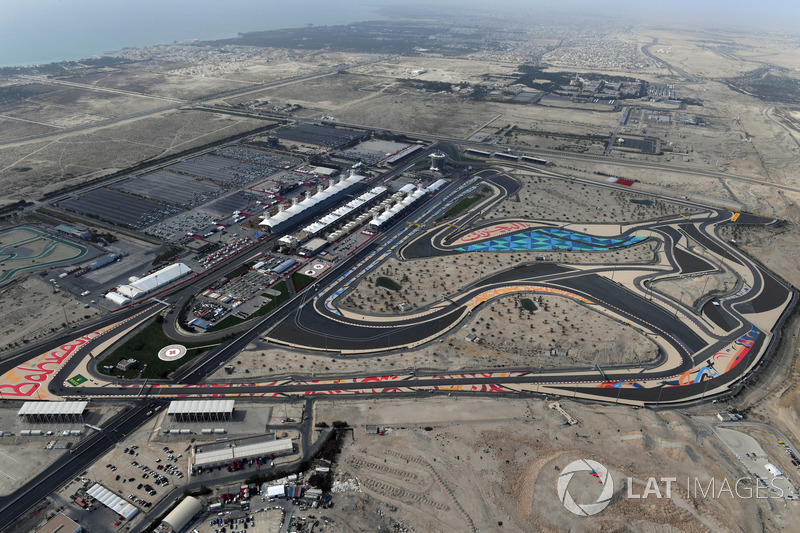 Aerial view of Bahrain International Circuit