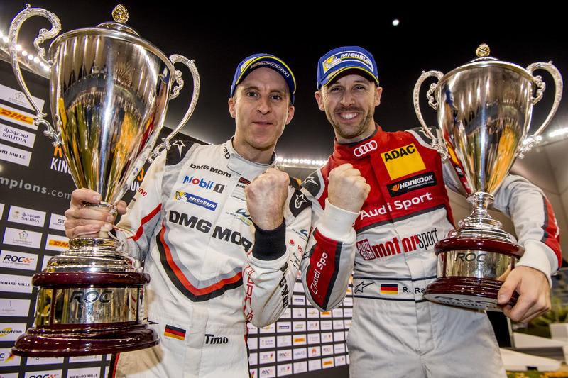 Rene Rast and Timo Bernhard of Team Germany celebrate