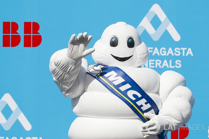The Michelin Man on the podium