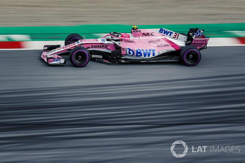 8 місце — Естебан Окон, Force India — 71