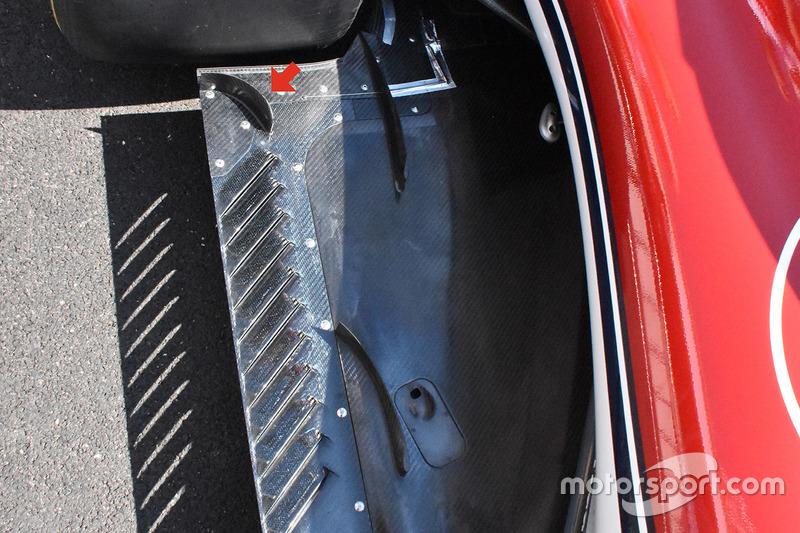 Arrière du fond plat de la Sauber C37