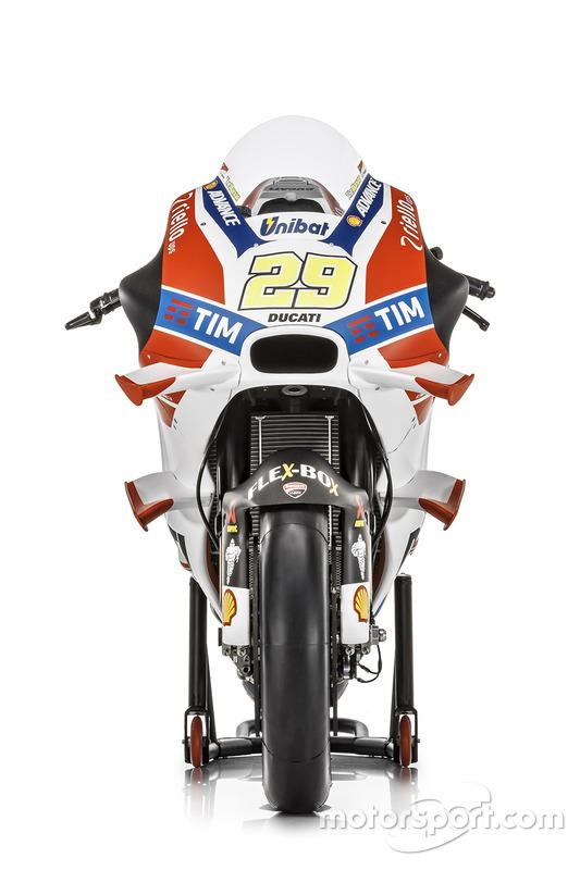 De motor van Andrea Iannone, Ducati Team