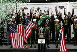 Overall Podium: Winner #2 ESM Racing Honda HPD Ligier JS P2: Scott Sharp, Ed Brown, Johannes van Overbeek, Pipo Derani