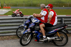 Michele Pirro, Ducati Team, Casey Stoner, Ducati Team and Davide Tardozzi, Ducati team manager
