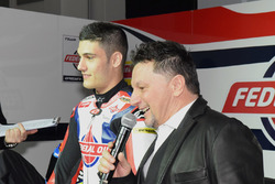 Fausto Gresini, Team Manager Federal Oil Gresini Moto2 and Jorge Navarro, Federal Oil Gresini Moto2