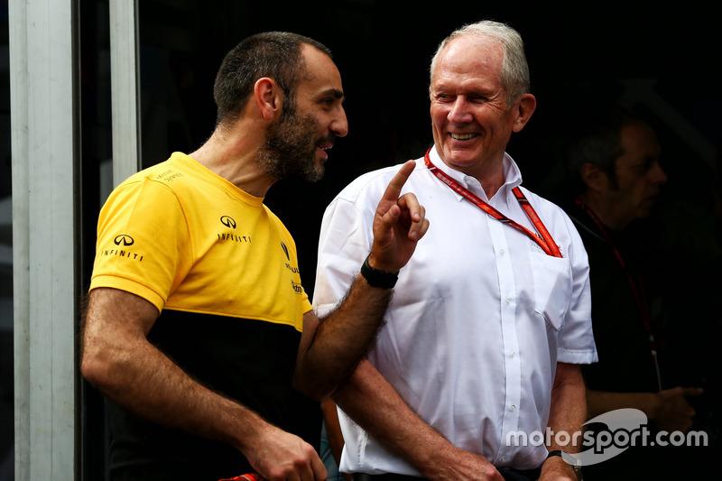 Cyril Abiteboul, Renault-Sportchef, mit Helmut Marko, Red Bull