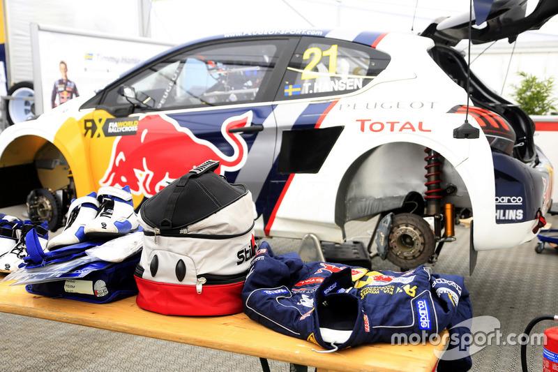 The car of Timmy Hansen, Team Peugeot-Hansen, Peugeot 208 WRX