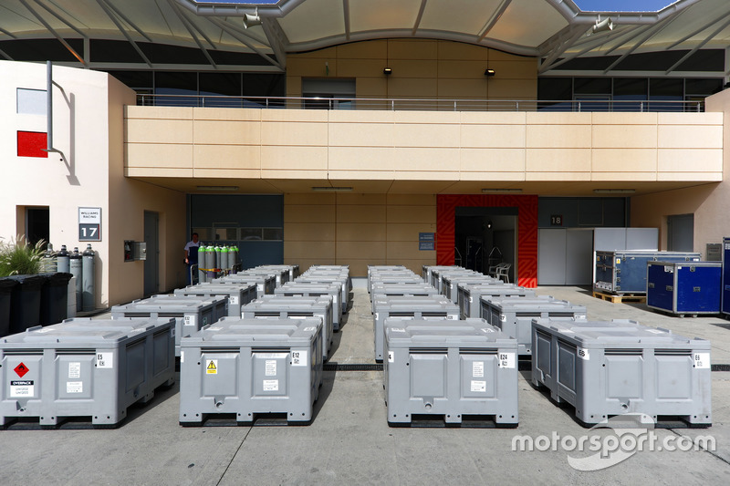 Williams freight in the paddock