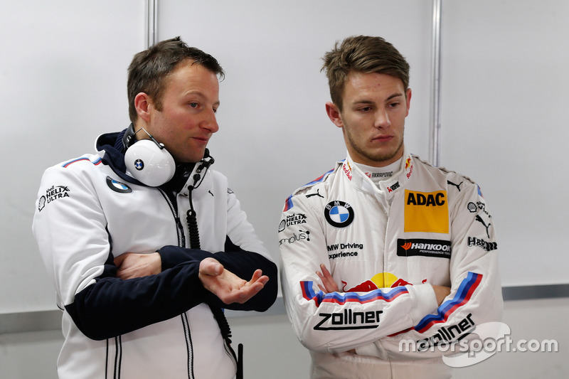 L'ingegnere Michael Kissling con Marco Wittmann, BMW Team RMG, BMW M4 DTM