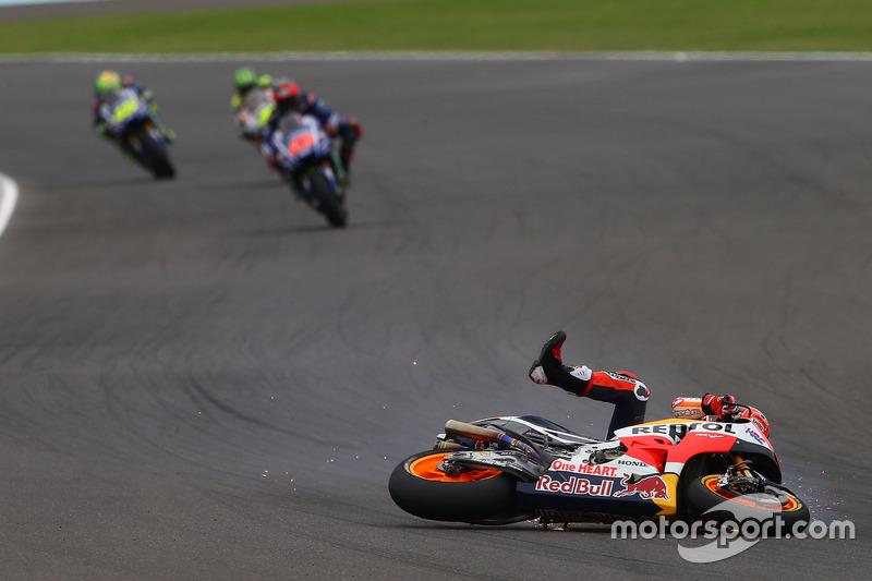 Sturz: Marc Marquez, Repsol Honda Team