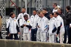 Antonio Felix da Costa, Martin Tomczyk, Timo Glock, Timo Scheider, Augusto Farfus, Maxime Martin, Bruno Spengler and Dirk Adorf