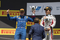 Podium: second place Oliver Rowland, DAMS