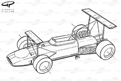 Lotus 49B 1968 double aerofoil overview
