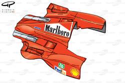 Ferrari F399 sidepod and engine cover bodywork - Hungarian GP