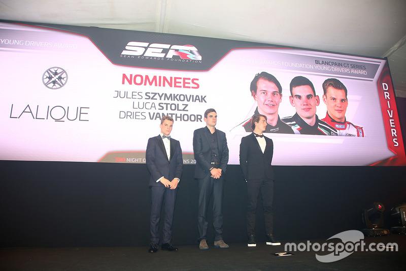 Nominados al trofeo Sean Edwards:  Jules Szymkowiak, Luca Stolz, Dries Vanthoor