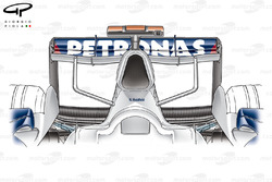 BMW F1.07 2007 airbox horns and rear wing