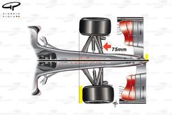 McLaren MP4-24 2009 short wheelbase chassis top view