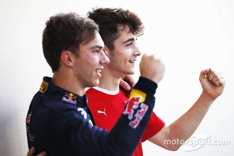 Campeón 2016 GP3 Series Charles Leclerc, ART Grand Prix y Campeón 2016 GP2 SeriesPierre Gasly, PREMA Racing
