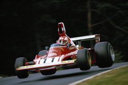 Ferrari driver Clay Regazzoni in the descent after Pflanzgarten