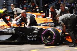 Stoffel Vandoorne, McLaren MCL32, Jenson Button, McLaren MCL32