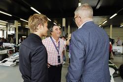 Nico Rosberg, Nigel Mansell , Ross Brawn, Managing Director of Motorsports, FOM