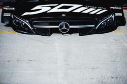 Motorhaube des Autos von Robert Wickens, Mercedes-AMG Team HWA, Mercedes-AMG C63 DTM