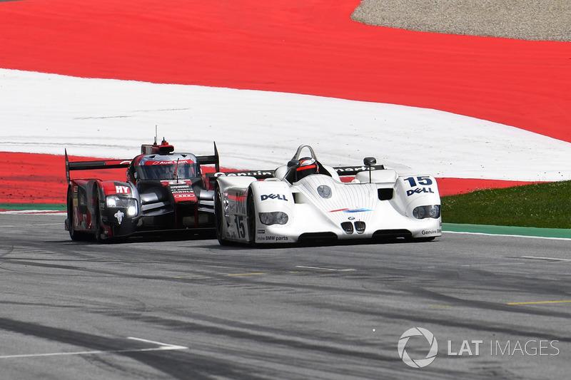 Gerhard Berger, BMW V12 LMR and Tom Kristensen, Audi R18