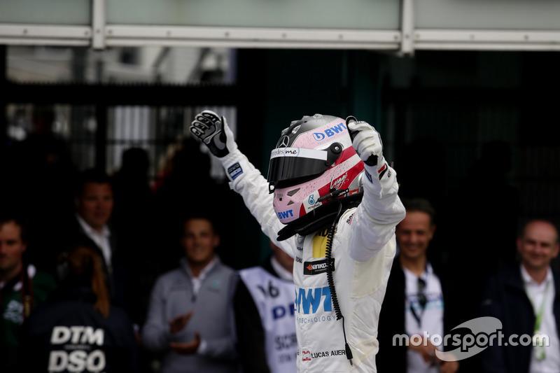 Race winner Lucas Auer, Mercedes-AMG Team HWA, Mercedes-AMG C63 DTM