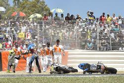 Jack Miller, Estrella Galicia 0,0 Marc VDS, Alvaro Bautista, Aspar Racing Team, caída