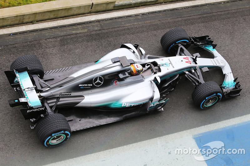 Mercedes AMG F1 W08, вид сверху